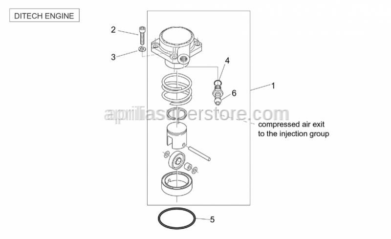 Aprilia - O-ring 44,2x1,8