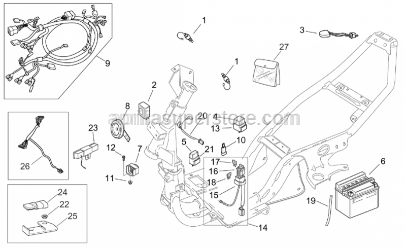 Aprilia - Main wiring harness