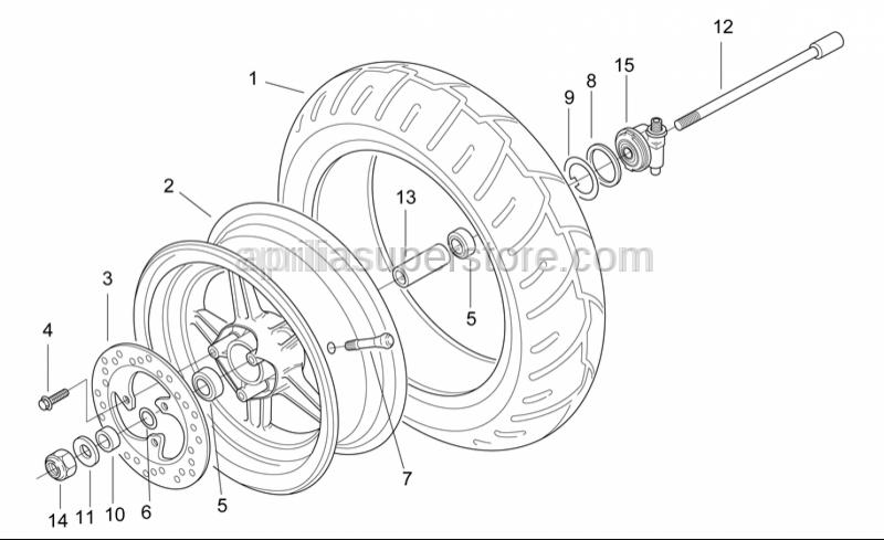 Aprilia - Front wheel ins.spacer