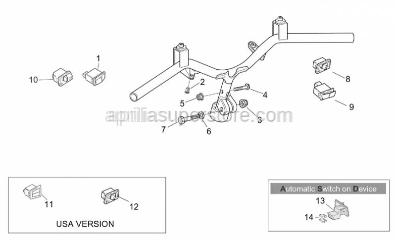 Aprilia - Horn button