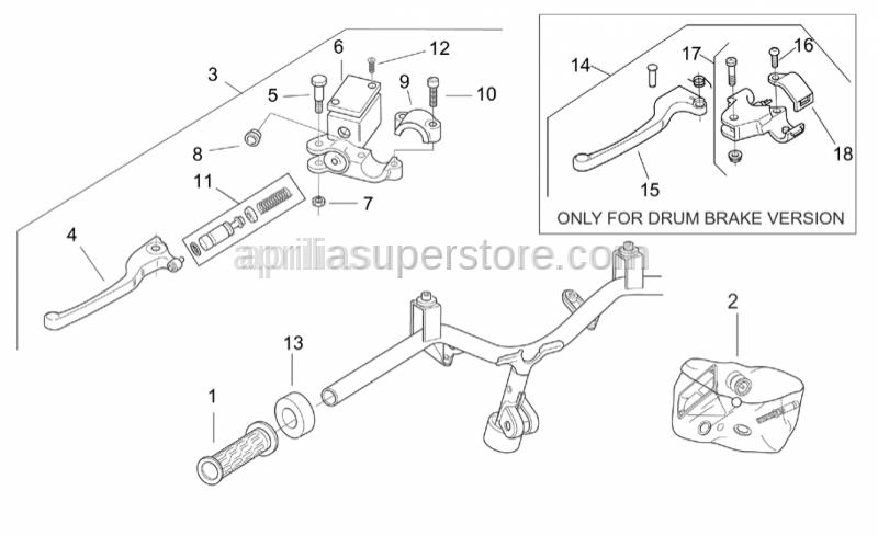 Aprilia - LH rear brake control