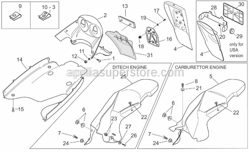 Aprilia - Hex socket screw M4x10