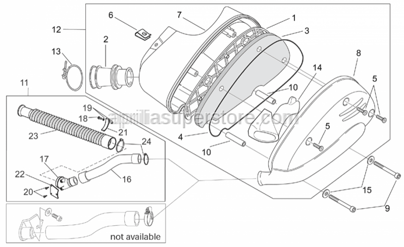 Aprilia - Self-locking nut m5