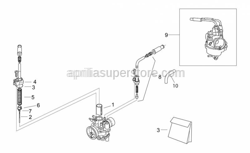Aprilia - Gas valve 30