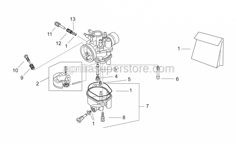 Aprilia - Gas valve adj.screw spring