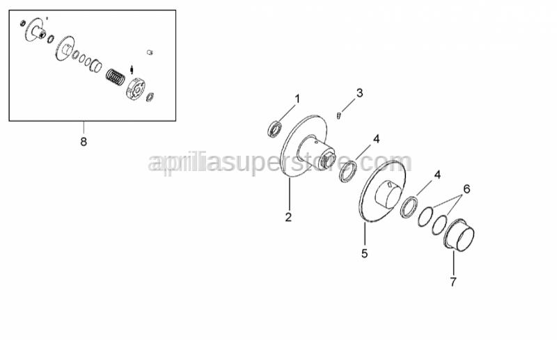 Aprilia - Guide roller for variator