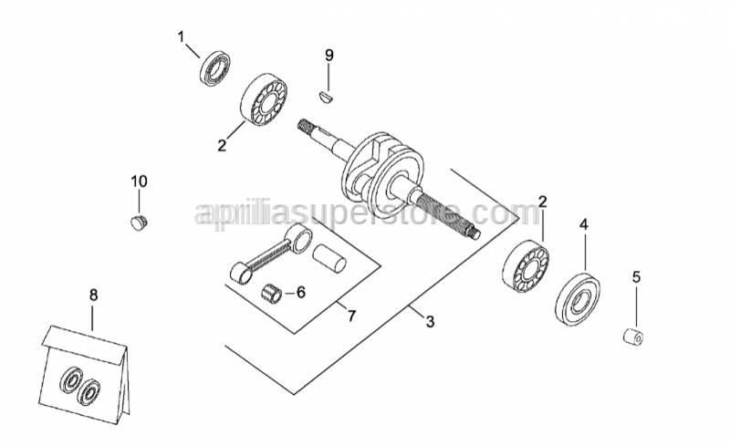 Aprilia - Pin cage 10x14x12,5