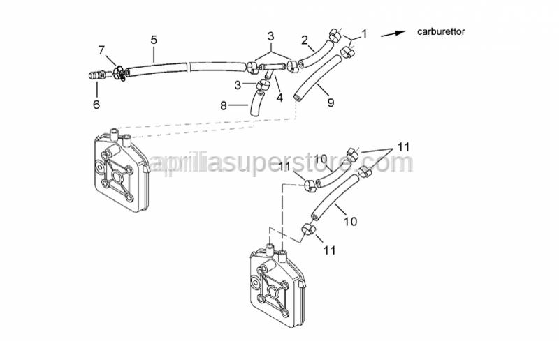 Aprilia - Head-Carburettor union hose
