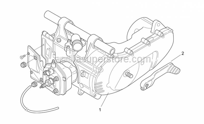 Aprilia - Kick-start lever