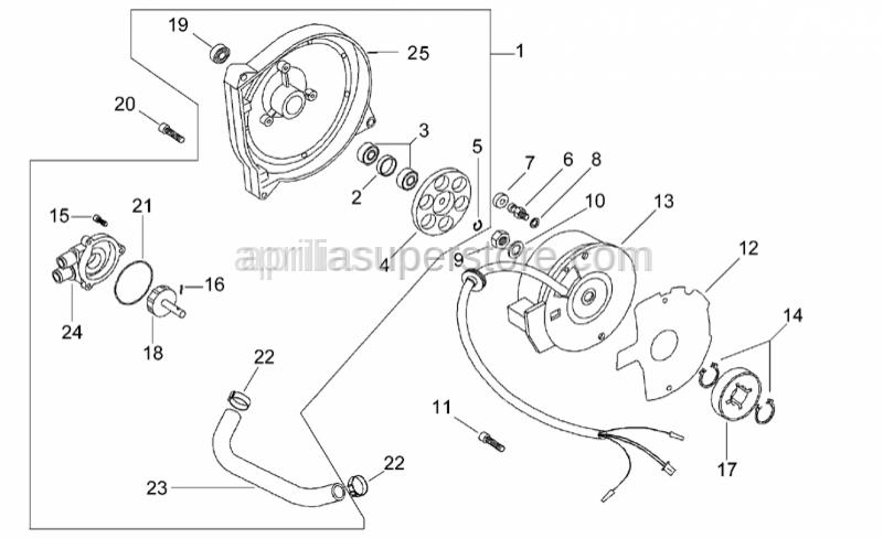 Aprilia - Pump drive pin grommet