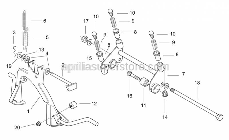 Aprilia - Engine connecting element