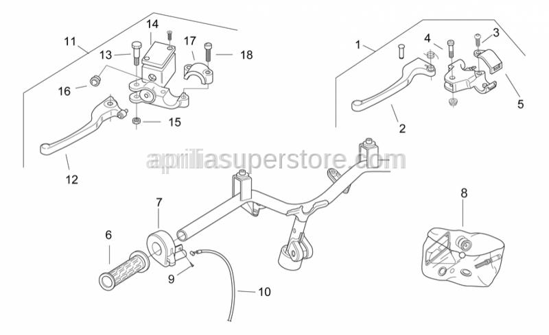 Aprilia - Rear brake pump D12