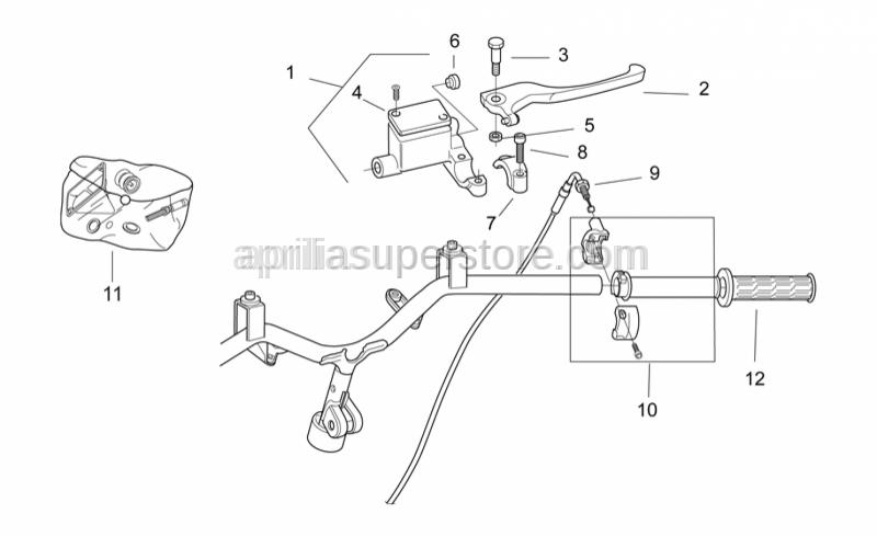 Aprilia - Front master cilinder D12