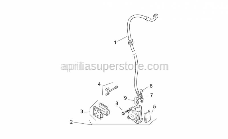 Aprilia - Oil pipe screw *