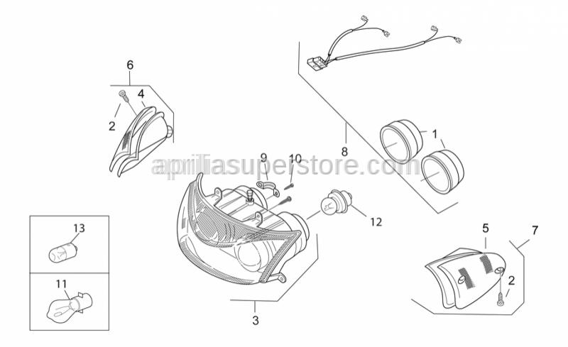 Aprilia - Self-tap screw M2,9x6,5