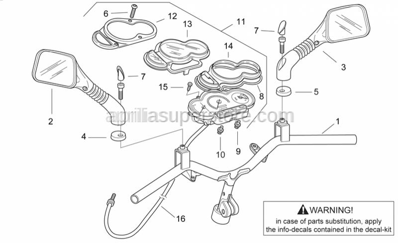 Aprilia - Lampholder, complete 12V/2W