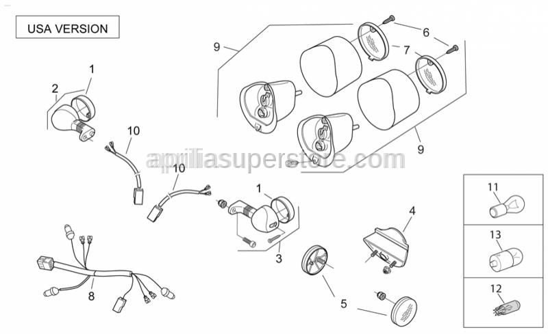 Aprilia - Turn indicator lens