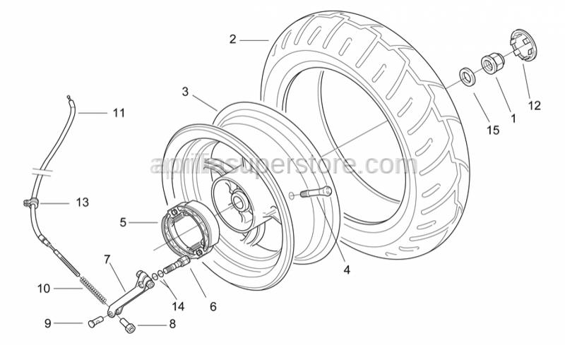 Aprilia - Brake hose hanger