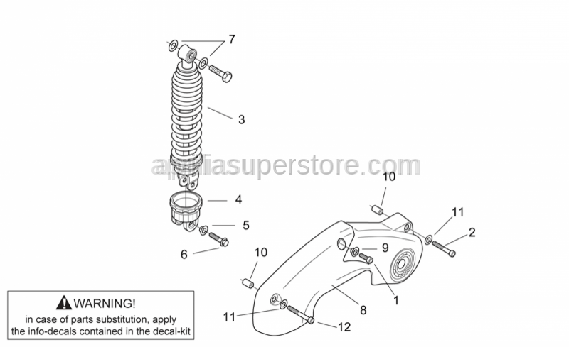 Aprilia - Curved spring washer *