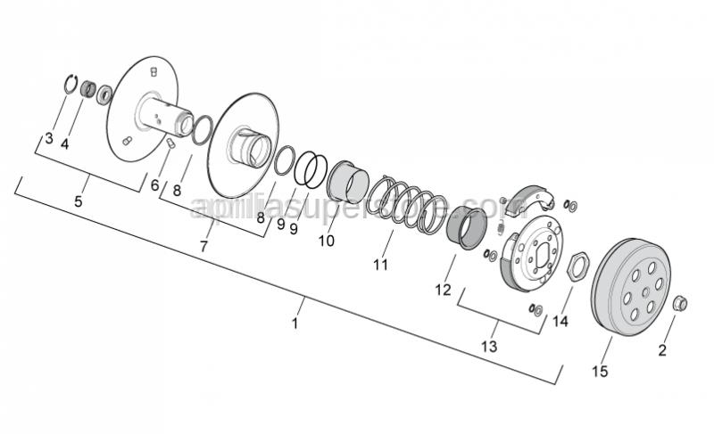 Aprilia - Flanged nut M10x1,25