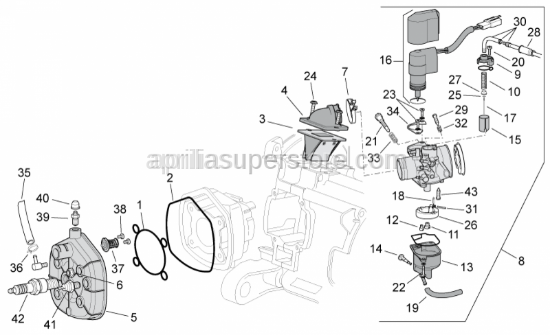 Aprilia - ADJUSTING SCREW FOR CARBURETOR