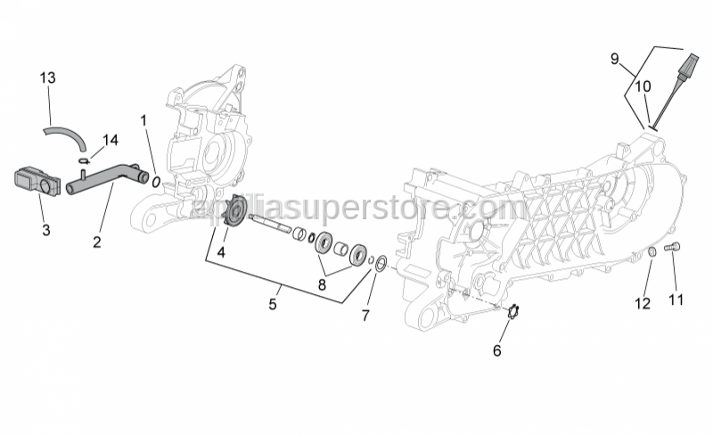 Aprilia - GEAR WATER PUMP KIT