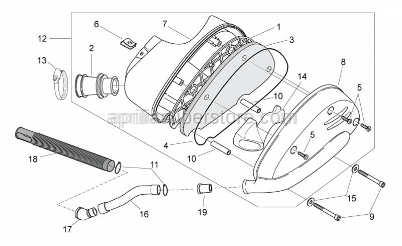 Aprilia - Hex socket screw M6x60