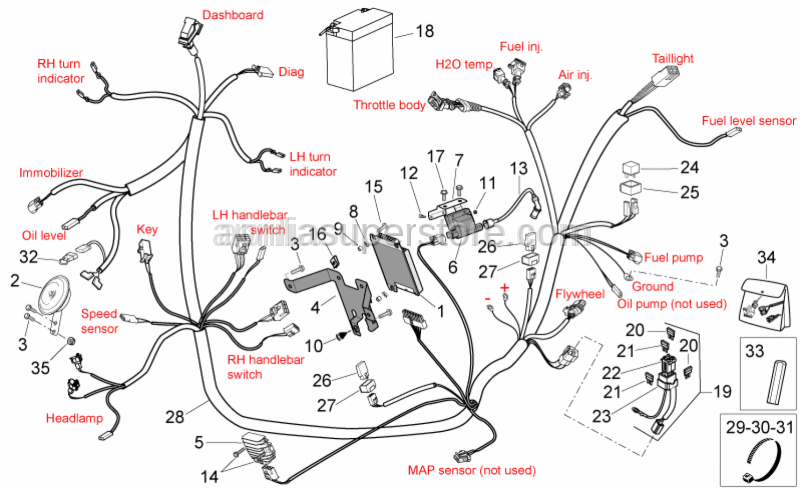 Aprilia - Control unit fixing plate
