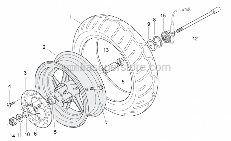 Aprilia - Gasket ring D40x50x4