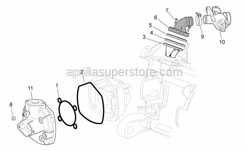 Aprilia - Outer gasket head
