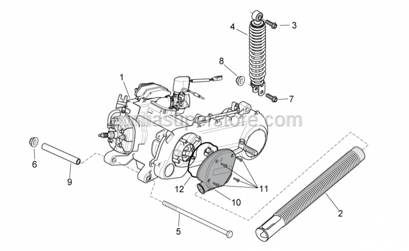 Aprilia - Engine pivot pin bush