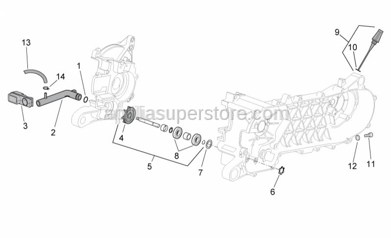 Aprilia - Carb-pump by-pass pipe