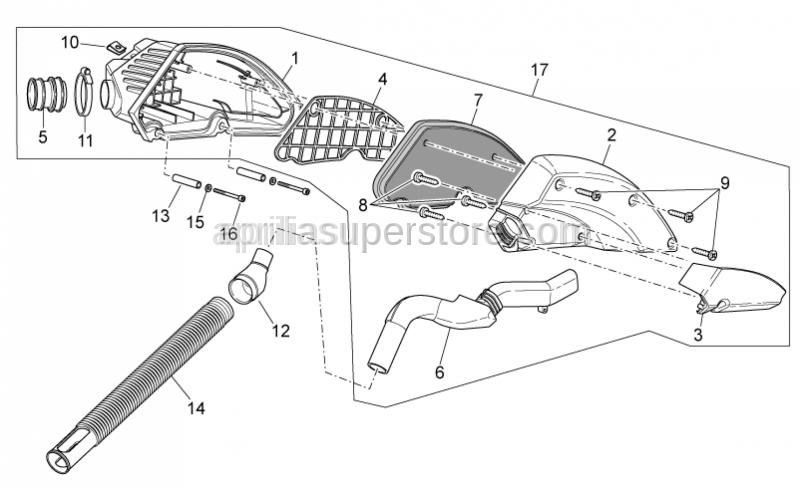 Aprilia - Carburettor-air box hose