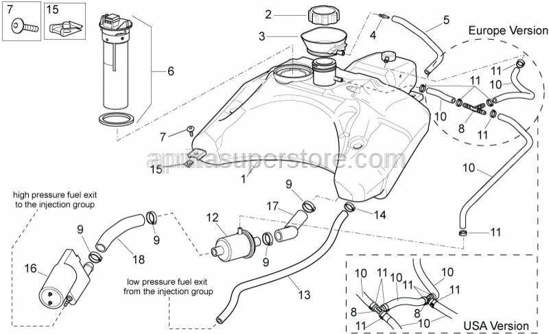 Aprilia - High pressure pipe 7X13