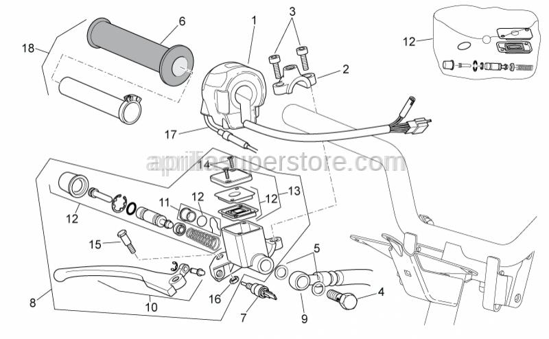 Aprilia - Brake lever (Heng Tong)