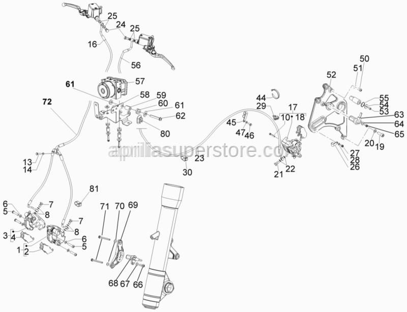 Aprilia - Lock-strap L=180mm