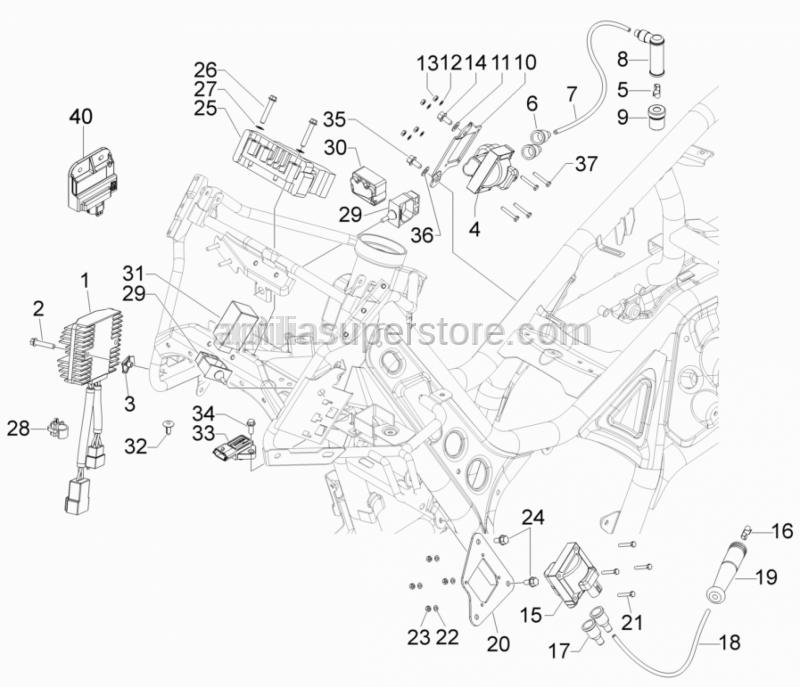 Aprilia - Flat washer 6,4x12x1