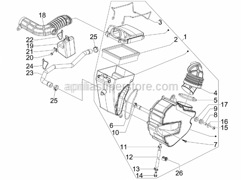 Aprilia - Spacer for fuel tank fixing