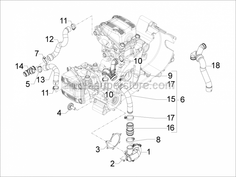 Aprilia - WATER PUMP COVER BGASKET