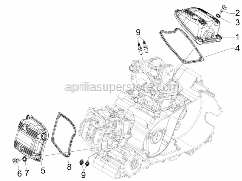 Aprilia - Head cover gasket