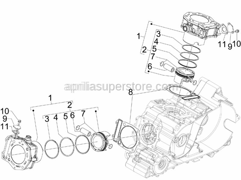 Aprilia - Cylinder base gasket 0,4