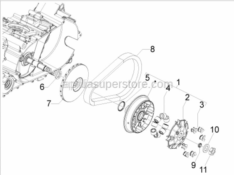 Aprilia - Half-pulley assy., driving
