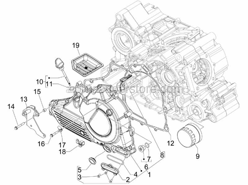 Aprilia - Timing plug assembly