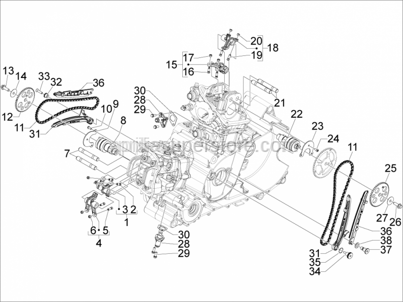 Aprilia - Adjuster screw