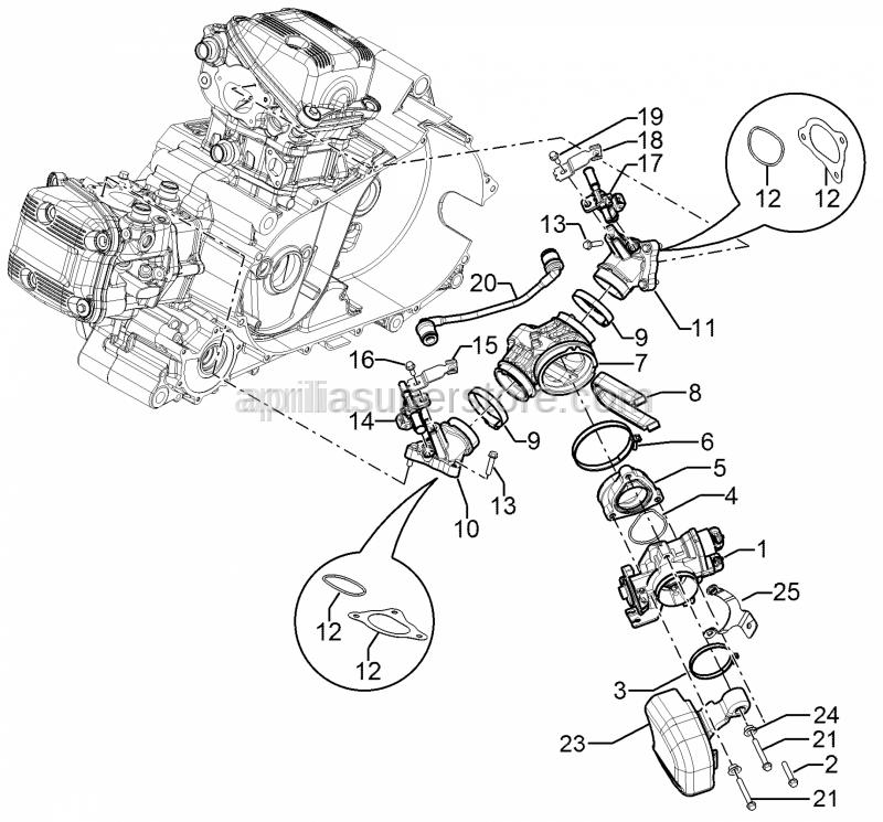 Aprilia - Throttle body cpl.