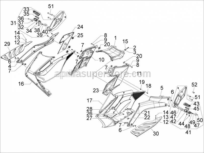 Aprilia - Support rubber part