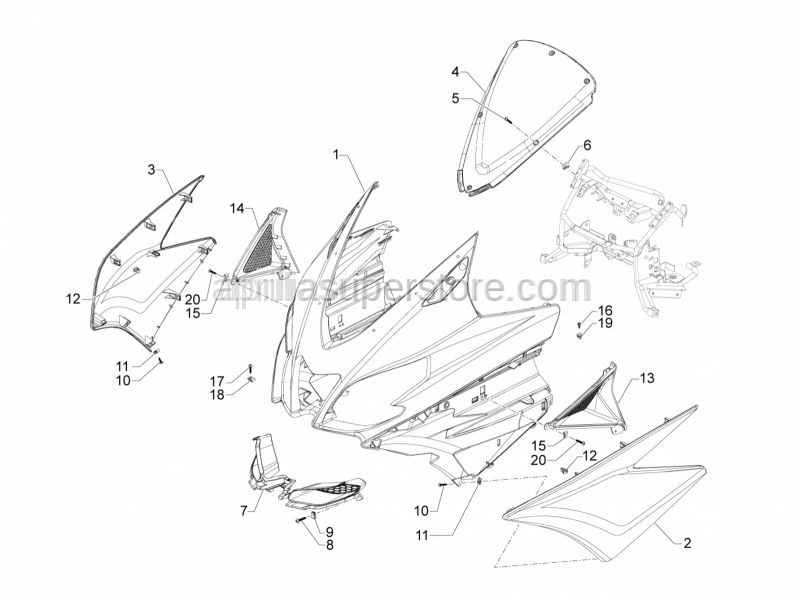 Aprilia - Self tapping screw D4.2x16
