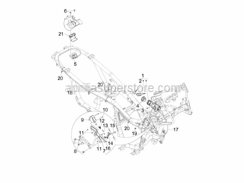 Aprilia - Screw (M4x12,5)