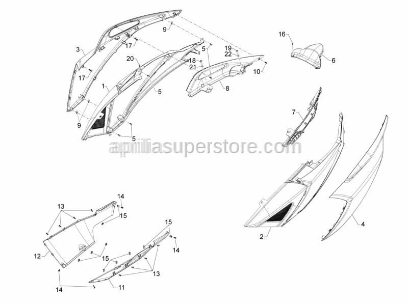 Aprilia - Self tapping screw D4x16