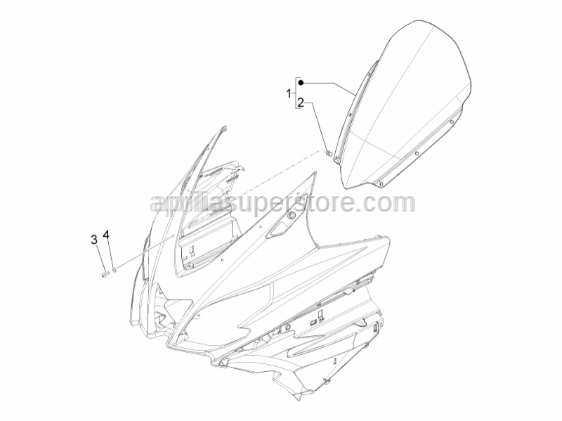 Aprilia - WINDSHIELD - ASSY